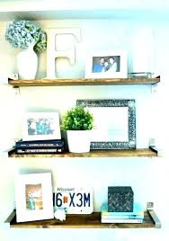 decorate wall shelf living room shelves