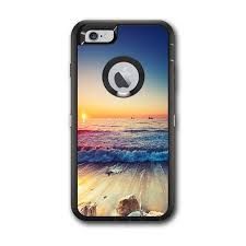 Skin Decal For Otterbox Defender Iphone 6 Plus Case Beach Tide Water Rocks Sunset Itsaskin Com