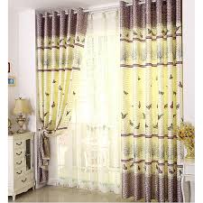 Pastoral And Country Style Colorful Butterfly Kids Room Curtains