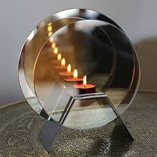magical effect of candles mirrored