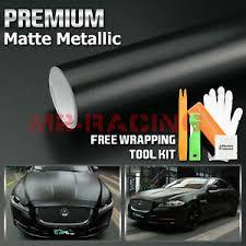 Premium Matte Metallic Satin Pearl Black Vinyl Wrap Sticker Decal Bubble Free Ebay
