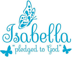 Amazon Com Butterfly Decorations Wall Decal Is A Vinyl Wall Decal Displaying An Isabella Accessories Great Wall Art Or Name Sign For Baby Nursery Toddler Little Or Teen Girls Room Ice Blue