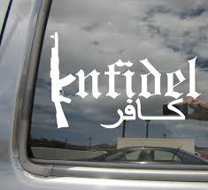 Infidel Ak47 Rifle Machine Gun Arabic War Car Window Vinyl Decal Sticker 09027 Ebay