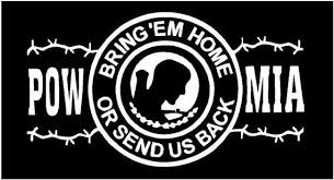 Vinyl Decal Pow Mia Round Bring Home Or Send Back Veteran Etsy