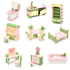 Wood Family Doll Dollhouse Furniture Set Dolls House Miniature Decoration Accessories Room Furniture Set Kids Pretend Play Toys Gift For Children Kids Boys Girls Walmart Com Walmart Com