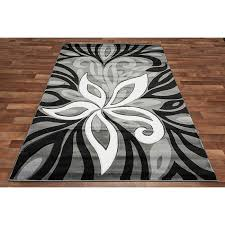 grey white aqua area rug black white