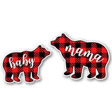 Mama Bear And Baby Bear 3 Vinyl Stickers For Car Laptop Water Bottle Phone Waterproof Decals Walmart Com Walmart Com