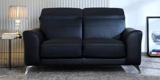 half leather sofa in black colour