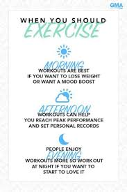 best times to exercise to lose weight