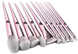 glo makeup brush set premium 10pcs