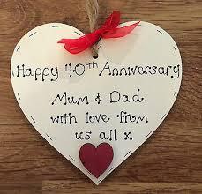 40th wedding anniversary gift ruby