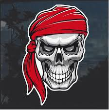 Pirate Skull Window Decal Sticker Custom Sticker Shop