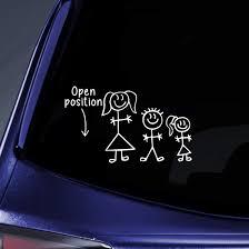 Amazon Com Bargain Max Decals Stick Figure Family Position Open Sticker Decal Notebook Car Laptop 6 White Automotive