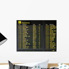 Airport Arrivals Wall Decal Wallmonkeys Com