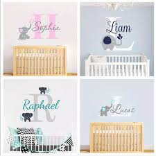 Custom Personalized Name Decal Wall Decals Baby Bedroom Elephant Vinyl Deorl Kid Boys Girls Room Name Nursery Decoration Xy001 Stickers For Vinyl Stickersstickers For Kids Aliexpress