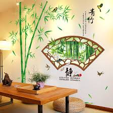 3d Three Dimensional Simulation Of Bamboo Wall Stickers Living Room Tv Backdrop Restaurant Wall Stickers Creative Self Adhesive Decorative Painting