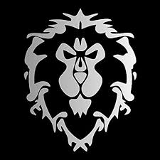 Amazon Com World Of Warcraft Alliance Pick Color Vinyl Transfer Sticker Decal For Laptop Car Truck Window Bumper 4in X 3in 2 Pack Silver Arts Crafts Sewing