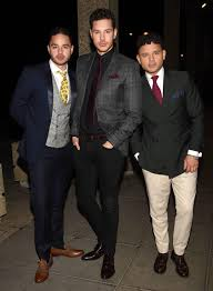 Adam, Ryan and Scott Thomas look dapper as they arrive suited and booted at  Irish TV show
