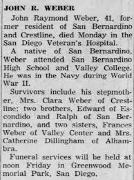 John Raymond Weber Obituary - Newspapers.com