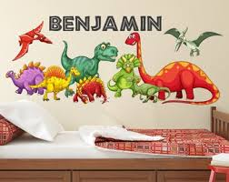 Dinosaur Wall Decal Etsy In Decors