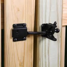 Everbilt Black Self Adjusting Gate Latch 18591 The Home Depot