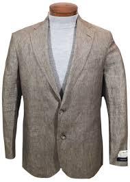 brown linen jacket blazer 42r 42