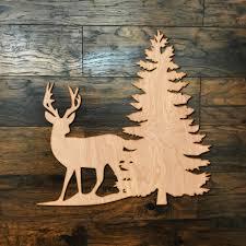 Deer Tree Wood Wall Art Home Decor Zug Monster