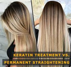 keratin or permanent straightening