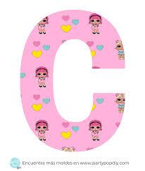Alfabeto Lol Surprise Imprimible Gratis Party Pop