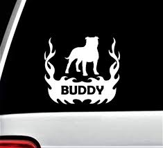 Personalized Pit Bull Decal Pit Bull Vinyl Decal Custom Dog Name Decal Dog Window Decal Pit