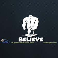 Bigfoot Believe Car Window Decal Sticker Graphic