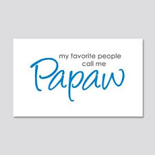Papaw Wall Decals Cafepress