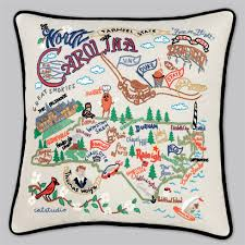 cat studio embroidered state pillow