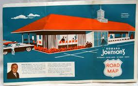 Howard Johnson's Restaurant Advertising Location Road Map Vintage ...