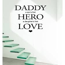 Shop Inscription Dad Son S Hero And Daughter S Love Wall Art Sticker Decal Overstock 11617705