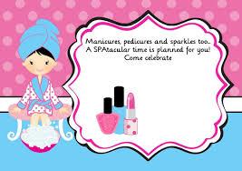 Invite Black Hair Fiesta Spa Spa De Ninos Cumpleanos De Spa
