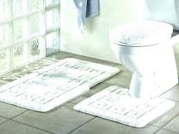 stunning black and white bathroom rug