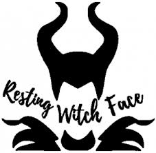 Funny Resting Witch Face Maleficent Car Or Truck Window Decal Sticker Rad Dezigns