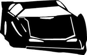 Late Model Race Car Vinyl Decal Sticker Dirt Track Nascar Late Model Asphalt Ebay