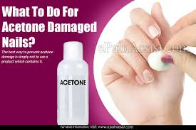 what to do for acetone damaged nails