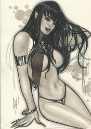 Vampirella by Adam Hughes , in T Tad's Online purchases Comic Art Gallery  Room