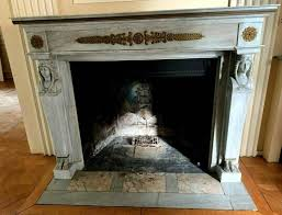 fireplace empire style blue marble old