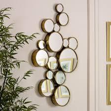 gold multi circle wall mirror 61cm x