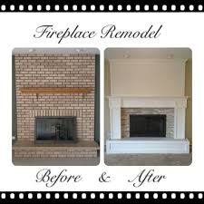 red brick fireplace remodel fireplace