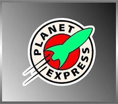 Futurama Planet Express Logo Vinyl Decal Bumper Sticker Frenzy 4 X4