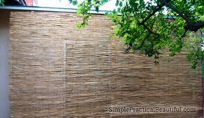 diy outdoor bamboo shades simple