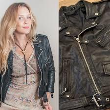 80s black leather jacket on wanelo