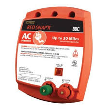 Zareba Red Snap R 88c Ac Powered 20 Mile Solid State Fence Charger Electric Fence Controller