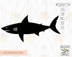 Shark Decal Shark Week Svg Great White Shark Svg Clipart In Svg Eps Pdf Dxf Png Formats Cricut Silhouette Cameo Vinyl Decal T Shirt Design Mtc Scal Iron On Vinyl Heat Transfer