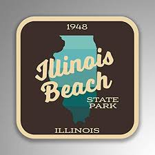 Amazon Com Jb Print Illinois Beach State Park Explore Wanderlust Camping Hiking Vinyl Decal Sticker Car Waterproof Car Decal Bumper Sticker 5 Kitchen Dining